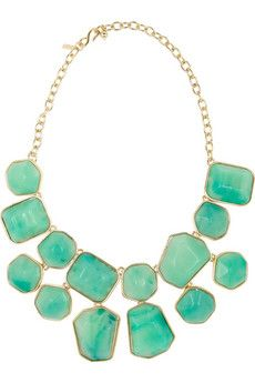 A resin statement necklace in one of the season's big colors looks far more expensive than it actually costs: $83.25.