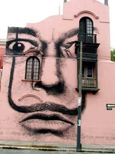 Salvador Dali Street art Lima-Peru Posted by Catalina Ochoa U on fb (via Art & Design) 3d Street Art, Murals Street Art, Amazing Street Art, Street Art Graffiti, Amazing Art, Salvador Dali, Banksy, Art Fauvisme, Graffiti Kunst