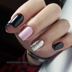 Purple Nail Designs For Short Nails. Do you want to try to go to Build it yourself nail art however where do you begin? First of all you must do is get some fundamental nail art specific tools. Glitter Nails, Fun Nails, Silver Glitter, Silver Nail Art, Glitter Dress, Glitter Eyeshadow, Milky Nails, Nagellack Design, Nagel Hacks