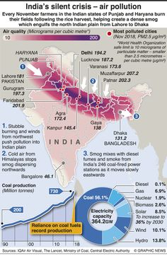 ASIA: India pollution infographic