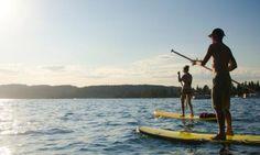 Paddleboarding on  Lake Coeur d'Alene | ROW Adventure Center