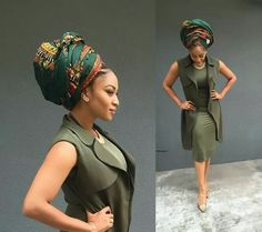 In the headwraps became a central accessory of Black Power's rebellious uniform. Headwrap, like the Afro, challenged accepting a style once used to shame African-Americans. African Attire, African Dress, African Beauty, African Fashion, African Women, Mode Turban, Pelo Afro, African Head Wraps, African Design