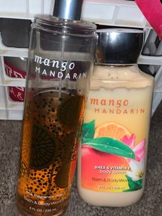 Bath and body works used mango mandarin bundle lotion has left and spray has left Bath N Body Works, Bath And Body Works Perfume, Versace Vanitas, Spa Night, Pink Perfume, Skin Care Routine Steps, Latest Makeup, Healthy Skin Care, Face Skin Care