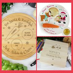 Personalised Santa Board, Christmas Eve Plate and Christmas Eve Box. 10% off all Christmas items this week only. Offer ends Friday 24th November.