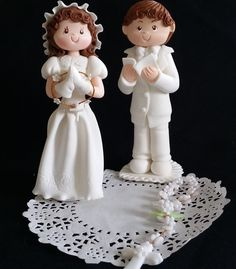 This adorable Girl or Boy are all handmade of Cold Porcelain This Communion Children's will make a great addition to your Cake or Centerpiece also will make a lovely gift for a special girl or boy cel