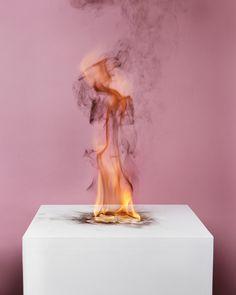 MICHAEL BUHLER-ROSE CAMPHOR FLAME ON PEDESTAL
