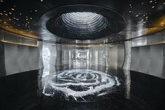 Shimao ·The Wave | Lacime Architects; Photo: CAAI | Archinect Building Skin, Building Art, Construction Group, Construction Design, Shell Structure, Glass Curtain Wall, Outdoor Theater, Parametric Design, Tianjin
