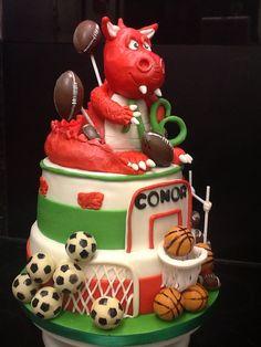Welsh dragon / ball games cake