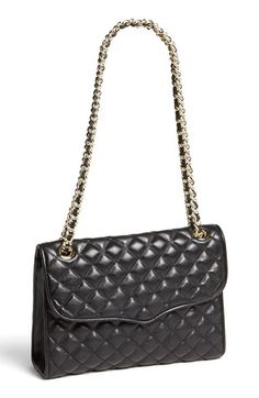 Free shipping and returns on Rebecca Minkoff 'Quilted Affair' Shoulder Bag at Nordstrom.com. A richly pebbled, quilted leather bag is fitted with a pull-through chain-and-leather strap.