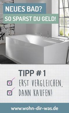 Badezimmer Planung Du planst ein modernen, schönes, helles, neues #Bad ? Wir zeigen dir wo du sparen kannst und wie du die Kosten im Griff hast.  Inspiration, Ideen und Tipps zum Thema #Badezimmer findest du auf www.wohn-dir-was.de  Bildmaterial (c) KEUCO