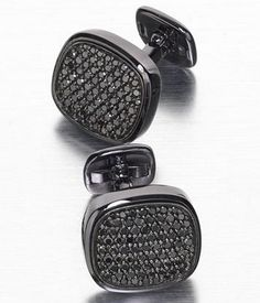 David Yurman black diamond cufflinks