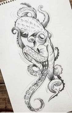 What to Expect When You Get Your Tattoo - Hot Tattoo Designs Octopus Tattoo Sleeve, Octopus Tattoo Design, Octopus Tattoos, Sleeve Tattoos, Tattoo Designs, Tattoo Ideas, Tattoo Sketches, Drawing Sketches, Tattoo Drawings