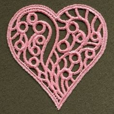 FSL Filigree Heart 9 - 4x4 | FSL - Freestanding Lace | Machine Embroidery Designs | SWAKembroidery.com Ace Points Embroidery
