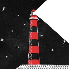 Lighthouse, Bloody Dairy by Min Liu #gif #illustration