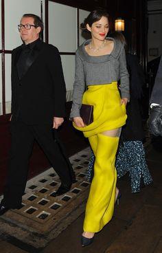 Marion Cotillard in Dior at the  BAFTAs