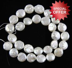 *3 for 2* 50 Bridal Pearl Star Shape 13mm Highest Quality Pony Beads