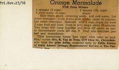 1956 PNE Prize-Winning Orange Marmalade