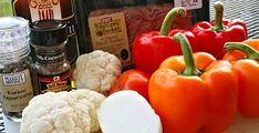 Spicy Stuffed Peppers - Primal Palate | Paleo Recipes Cauliflower,tomato,onion,turkey
