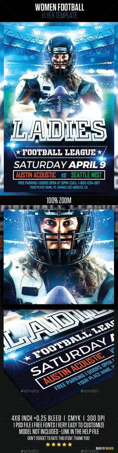 Football Night Flyer Template Flyer template, Template and Event