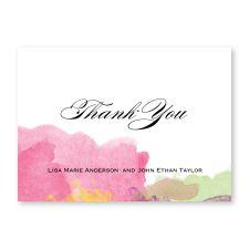 laser cut frame pocket - thank you cards
