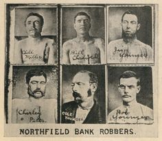 Northfield Bank Robbers...  Six members of the James-Younger Gang.