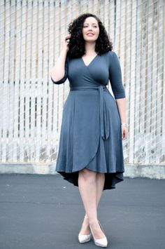 65bc9d87ac Girl With Curves  Wrap Dress. A curvy girl classic and must have. A