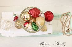 Biljana Shabby Vintage Sled, Shabby Chic Furniture, Christmas Bulbs, Holiday Decor, Home Decor, Decoration Home, Christmas Light Bulbs, Room Decor, Interior Decorating