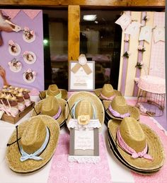 Hats at a Cowgirl Party #cowgirl #partyhats