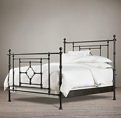 19th C. Quatrefoil Iron Bed   Restoration Hardware