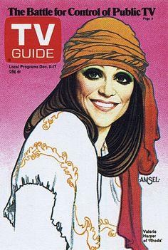 """Richard Amsel TV Guide Cover, December 11, 1976, """"Valerie Harper as Rhoda"""""""