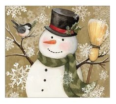 woodlan snowman Susan Winget