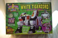 Vintage Mighty Morphin Power Rangers White Tigerzord MIB  #Bandai