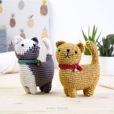 Crochet Cat Pattern, Crochet Geek, Crochet Toys Patterns, Stuffed Toys Patterns, Amigurumi Patterns, Crochet Hooks, Cat Crochet, Crochet Rabbit, Crochet Stitches
