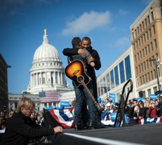 Bruce Springsteen with President Obama