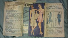 Vintage 1940s Ladies Slip and French Knickers & Cami-Knickers Pattern Bust 32 Starting bid:£10.00