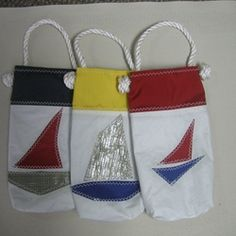 Recycled sails wine gift bag.