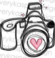 Whimsical Camera Illustration for Photography by AveryKasperDesign, $4.00