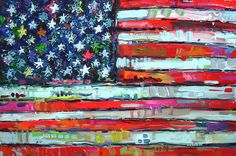 American Flag by David Young using Tulip Paint
