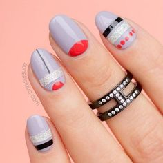 Oval Nails With A Half Moon Design #halfmoonnaildesign Explore cute designs for short and long oval nails. Whether your nails are natural or acrylic, learning how to shape your nails oval is worth it. #naildesigns #ovalnails #nailart #nails