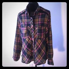 Free People Plaid Shirt Free People Plaid Shirt in great condition, worn just once, not available for trading. Size is S Free People Tops Button Down Shirts