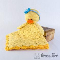 Duck  Lovey Security Blanket Crochet Pattern