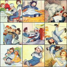 Raggedy Ann and Andy Collage  Large Image Collection:  by joapan