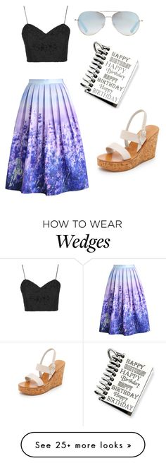"""MINe"" by annluulive on Polyvore featuring Topshop, Chicwish, Linda Farrow, Kevin Jewelers and K. Jacques"