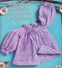 Passo a passo – Casaquinho lilás com fita   Rio Artes Manuais
