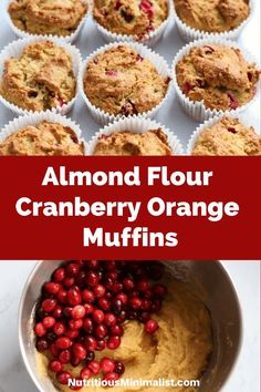 This cranberry orange almond flour muffins recipe makes a healthy holiday treat for breakfast or a snack. Bake a batch of these quick and easy gluten free muffins made with fresh cranberries and sweetened with maple syrup if you're looking for a lower carb dessert this holiday season.