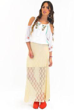awesome lace maxi skirt www.shopmixology.com