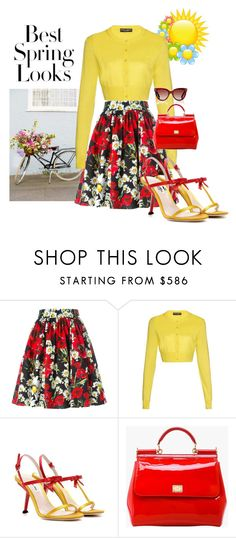"""Transition to Spring!!!"" by briannaandrews500 ❤ liked on Polyvore featuring H&M, Dolce&Gabbana, Miu Miu and Valentino"