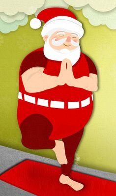 Santa's Christmas Yoga Routine Yoga Humor, Pilates, Yoga Routine, Zen, Yoga Pictures, Bikram Yoga, Yoga Art, Christmas Humor, Christmas Tree