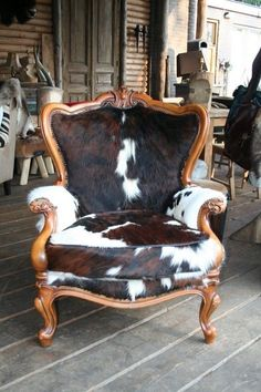 Value Home Furniture -Western Furniture Cowhide Decor, Cowhide Furniture, Cowhide Chair, Western Furniture, Funky Furniture, Upholstered Furniture, Rustic Furniture, Furniture Makeover, Furniture Design