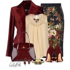 Dolce & Gabbana Pencil Skirt, created by lmhall96 on Polyvore